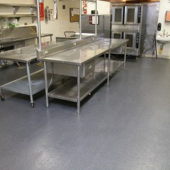Commercial Kitchen Flooring Tall Trash Can Western Concrete Coatings Prevent Safety Issues In A Busy By Installing Non Slip Surface Industrial Decorative Resistant Easy To Clean Extreme Durability
