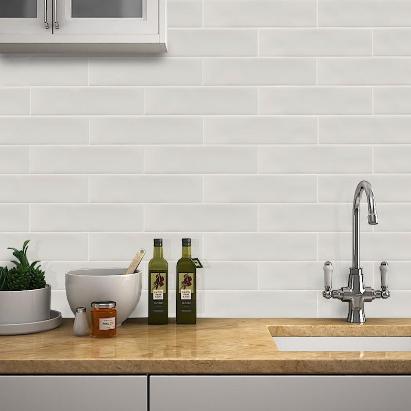 ivory gloss ripple slim subway wall tile