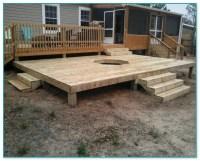 Fire Pit Built Into Wood Deck
