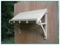 Door Canopy Kit & Quality Woodworks  Oak Door Canopy And ...