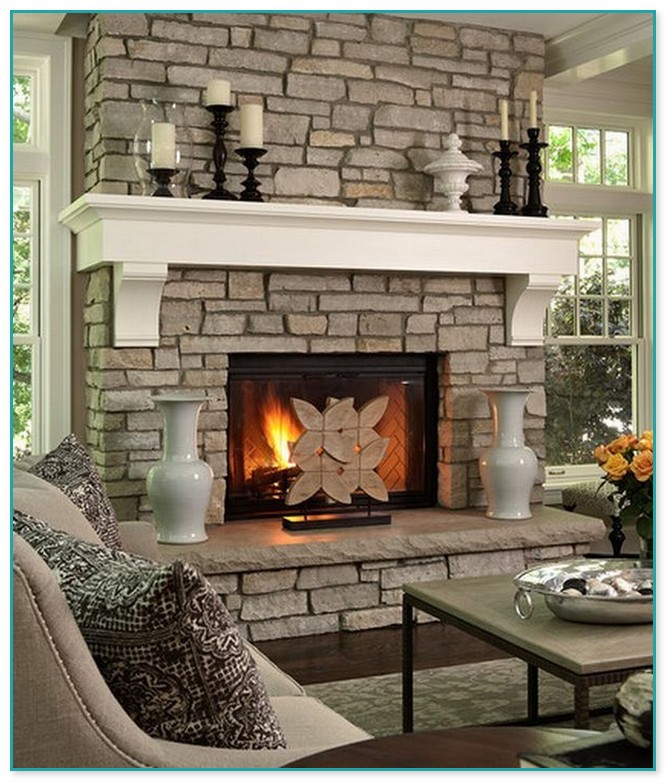 How To Decorate A Stone Fireplace Mantel