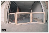 Garage Door Dog Gate - Goldenacresdogs.com