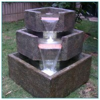 Large Solar Water Fountain