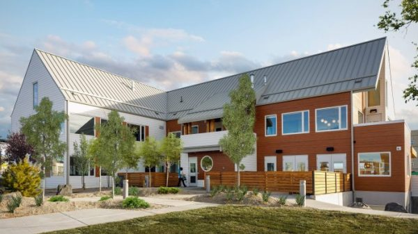 So that no one faces cancer alone, the new Wellspring building, the Randy O'Dell House in Calgary, Alberta, has been designed with community-based support in mind.