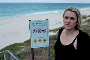 Maya Kavanagh down at the dog beach.