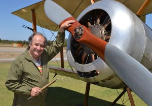 Felton says he feels privileged to work on a 1917 aircraft.