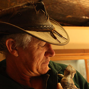 Gane Doyle knows the care needed to care after reptiles in an often harsh Australian climate.