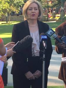 Perth Lord Mayor Lisa Scaffidi today. PHOTO: Laura Meachim.