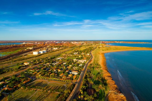 Ariel shot of Port Hedland