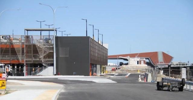 Dundas Road train station under construction.