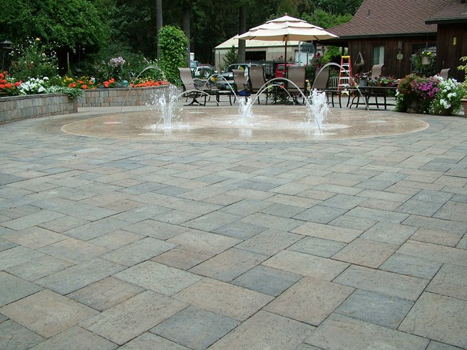 Granite Park And Granite Plaza Stone Have A Unique Finish