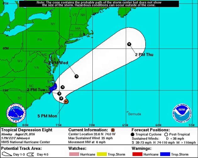 East Coast Tropical Update