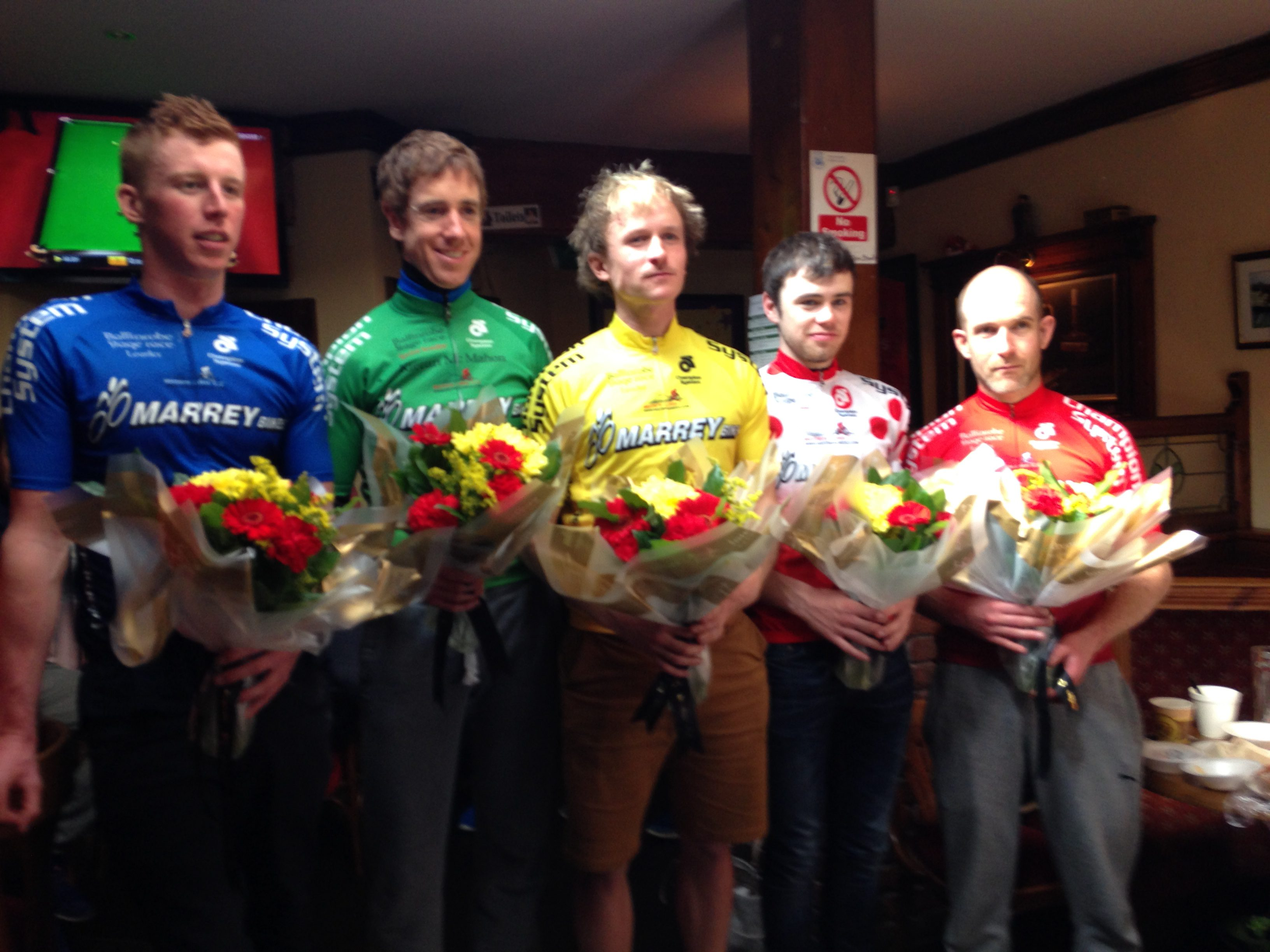 Overall Jersey winners of the Ballinrobe 3 day 2016
