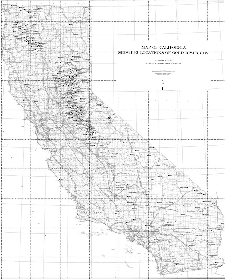 Map of California Gold Districts