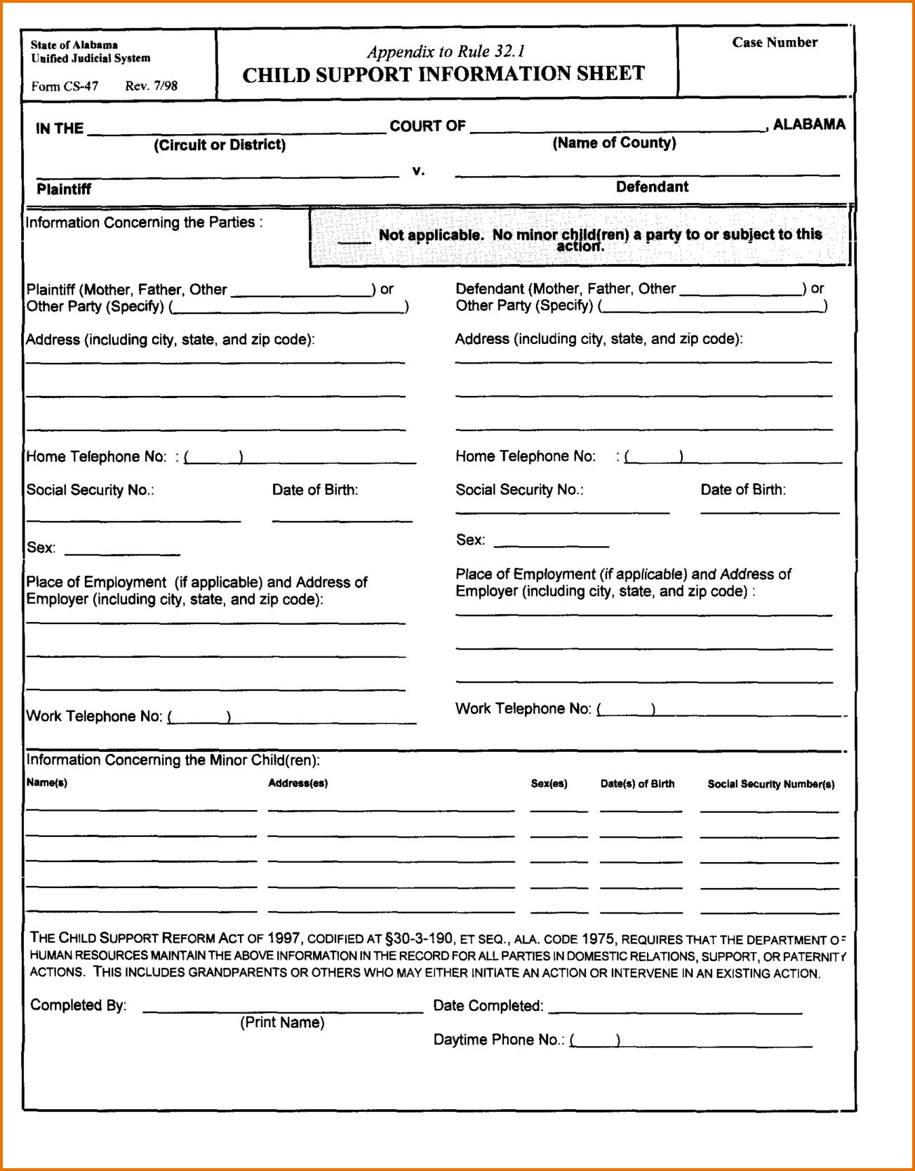 California Certificate Worksheet