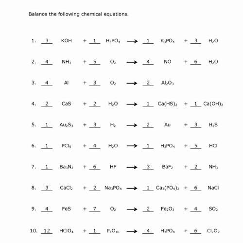 small resolution of Chemical Equation Worksheets Printable   Printable Worksheets and  Activities for Teachers