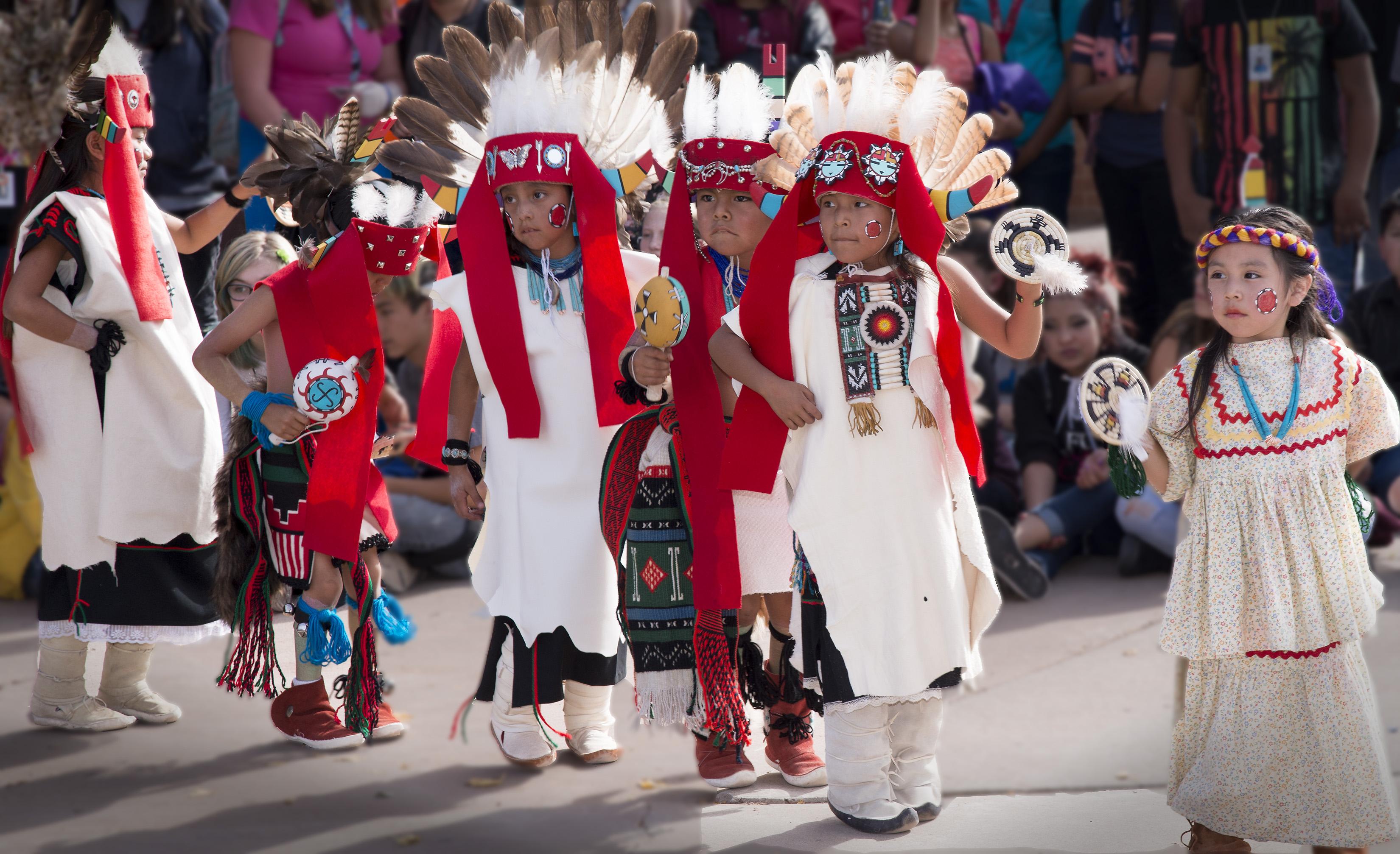 Photo highlights Hopi Dancers perform at Winslow schools