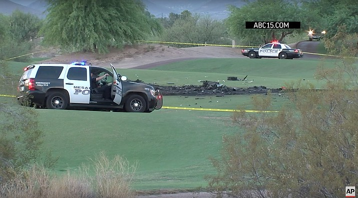 Mesa Police identify 2 who died in golf course crash of a