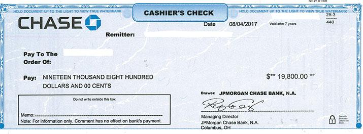 Cashier S Check Template