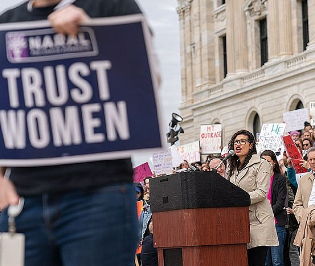 Mississippi Abortion Law Smacks Of Defiance Us Judge Says Erin May Quade Speaks At Stopthebans Rally In St Paul Minnesota On Thursday