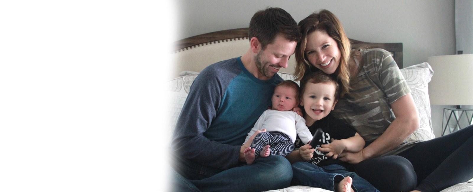 Smiling family banner