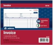 INVOICE BOOK W/C 50 SETS/2 PT