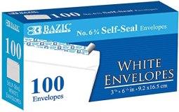 ENVELOPES 6 3/4 SELF SEAL BX/100
