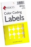 YELLOW COLOR CODING LABELS 3/4
