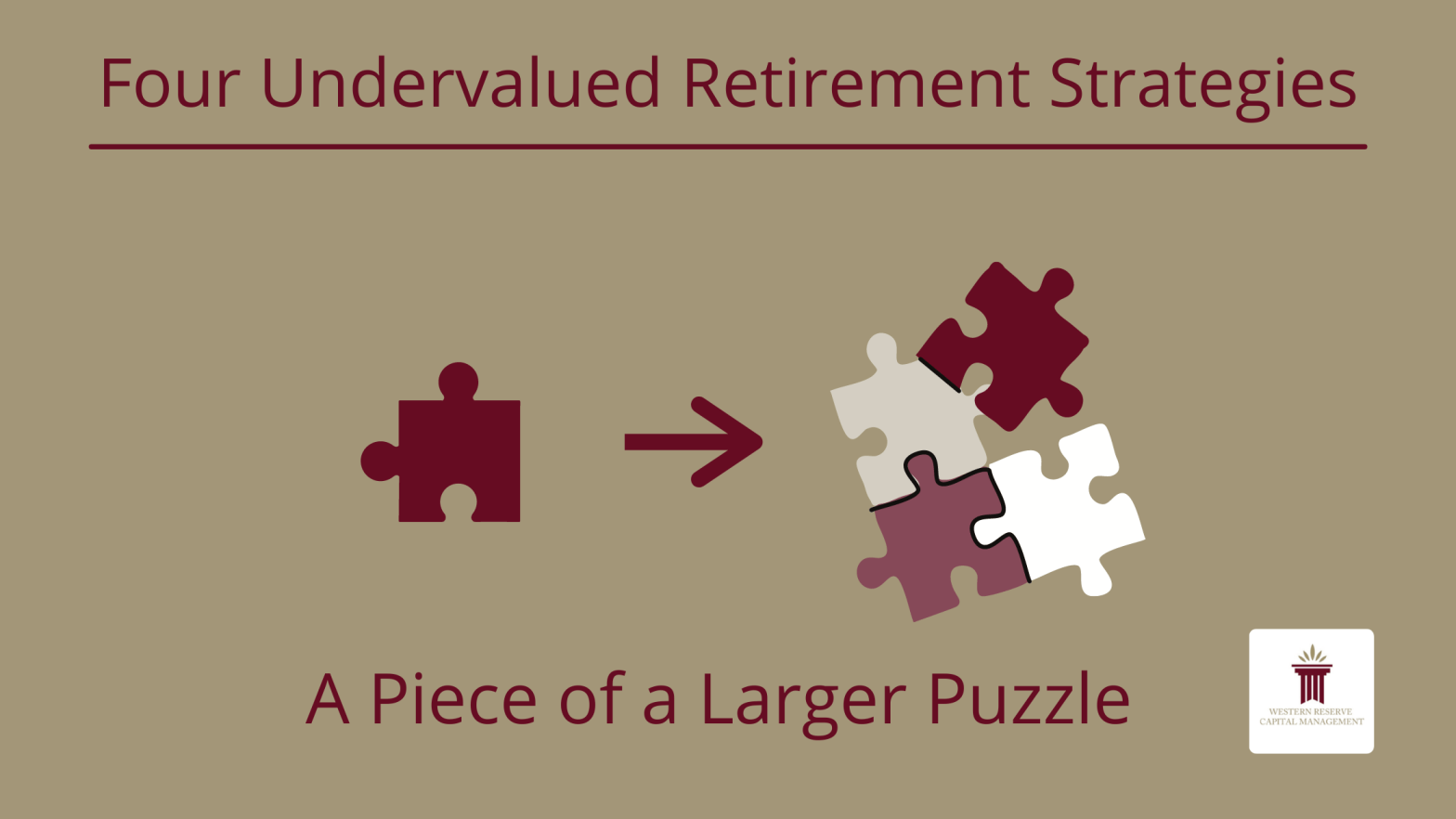 Four Undervalued Retirement Strategies
