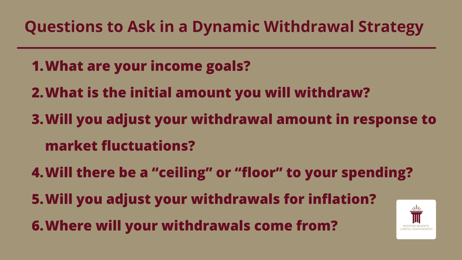 Why Your Retirement Income Should be Dynamic