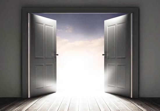 image of doors opening