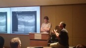 Drs Millington and Thompson covering general critical care ultrasound image interpretation - nasty DVT on the screen!