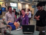 Roy Roebotham supervising an endocavitary simulation