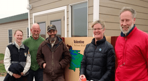 Staff of the Valentine National Wildlife Refuge  (Nebraska) pose with WTI researcher Marcel Huijser