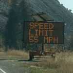 Thumbnail: Variable Message Sign, Speed limit, 55mph