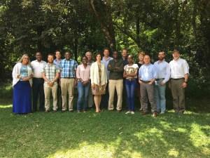 Photo of 16 members of Transport Working Group who attending meeting in Nairobi, Kenya