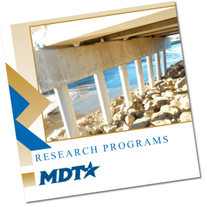 WTI, MDT Research on concrete cap for bridge deck support