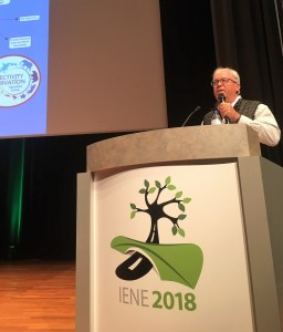 Rob Ament presents at IENE in September 2018