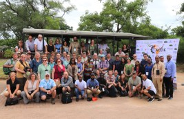 Group photo of participants at 2019 Ecology conference in South Africa
