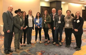 Group photo of ten WTI staff members at TRB Annual Meeting
