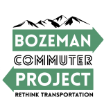 Logo for Bozeman Commuter project including tagline Rethink Transportation