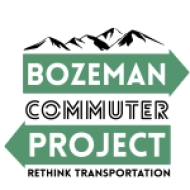 Logo for Bozeman Commuter project including tagline Rethink Transportation