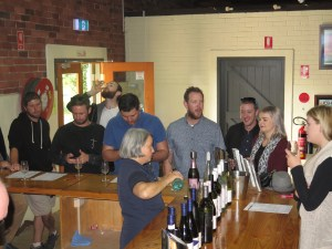 Western Wine Tour Group enjoying wine tasting.