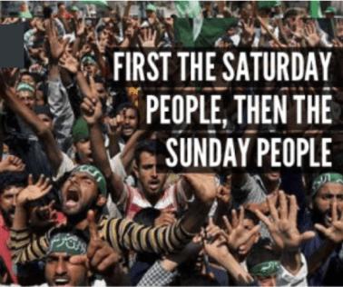 eerst de zaterdag mensen dan zondag