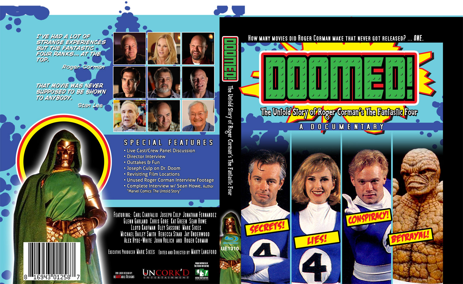 Doomed!: The Untold Story of Roger Corman's The Fantastic Four Blu-Ray - Westfield Comics