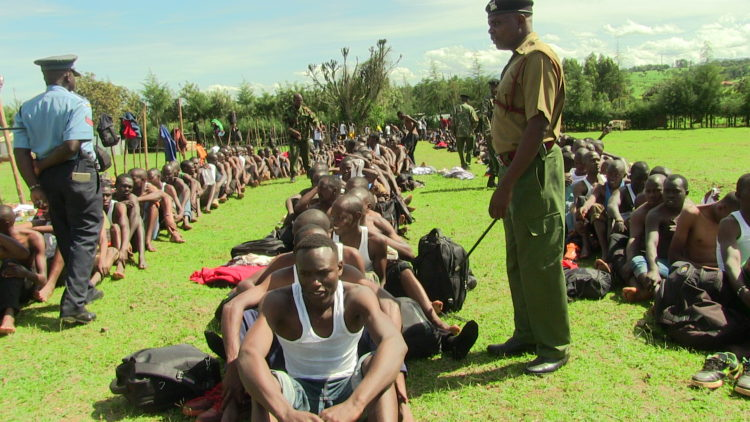 Youths in Trans Nzoia during the police recruitment exercise - Westfm Kenya