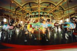 This is an awesome carousel. My daughter loves to ride it.