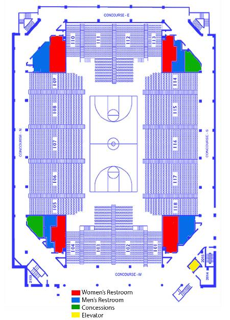 Uwg Campus Map : campus, Coliseum, Seating, Charts