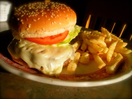 cheeseburger lunch fries