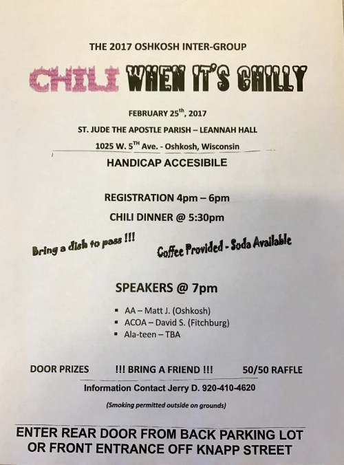 Chili When it's Chilly flyer